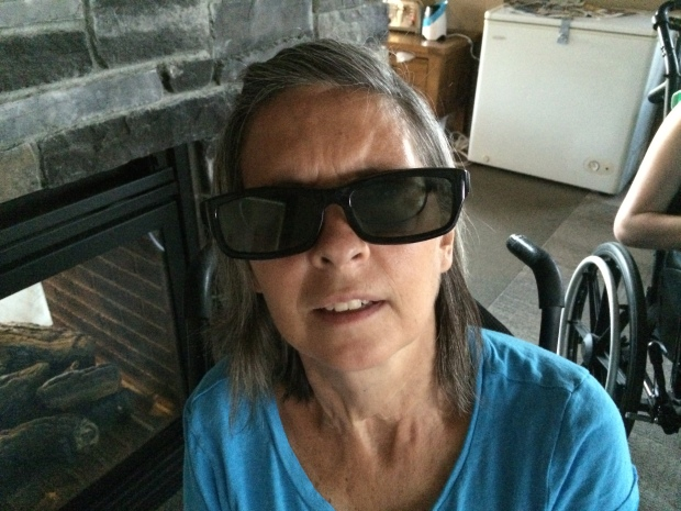 Janet's Ray Charles impersonation.